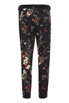 InWear - Abril Nica Black Botanical Design Trouser