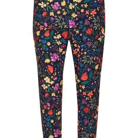 InWear - Abril Nica Black Flower Design Trouser