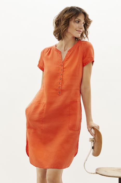 Part Two - Aminas Short Sleeve Linen Dress