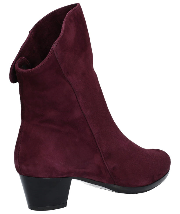 Riva - Armadillo Ankle Boot - Bordo Suede