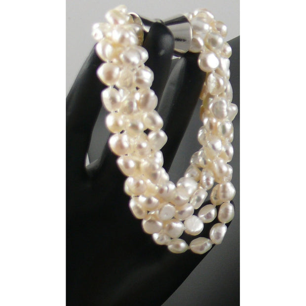 The Real Pearl Co. - Five Strand Pearl Bracelet