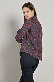 Mat De Misaine - Canada Liberty-print shirt with contrasting velvet trims