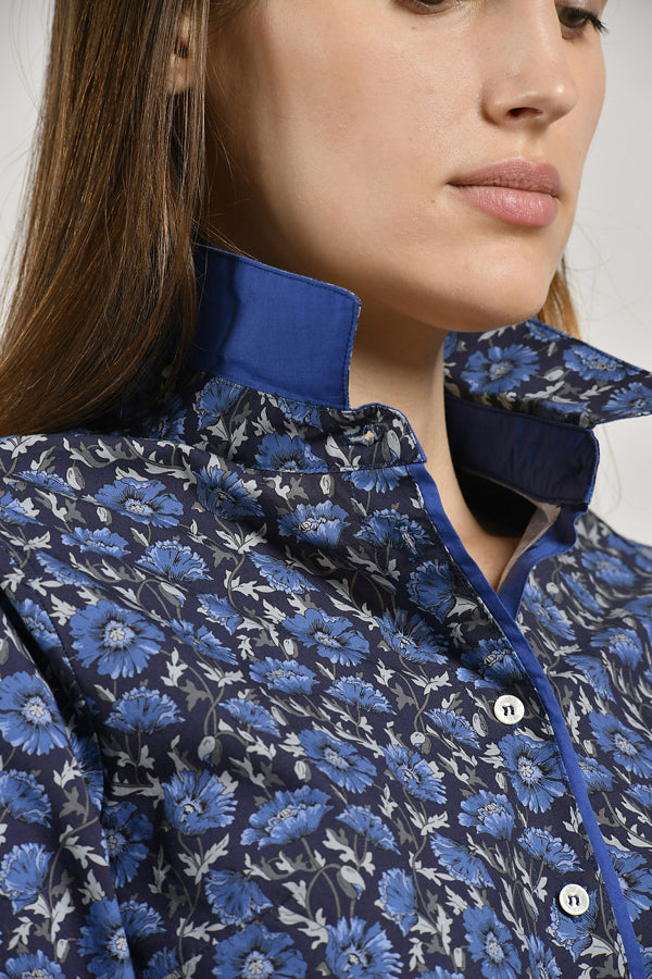 Mat De Misaine - Canada Cotton Liberty-print shirt with constrasting details