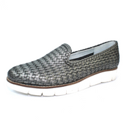 Lunar Shoes - Cipriana Weaved Leather Pump in Pewter