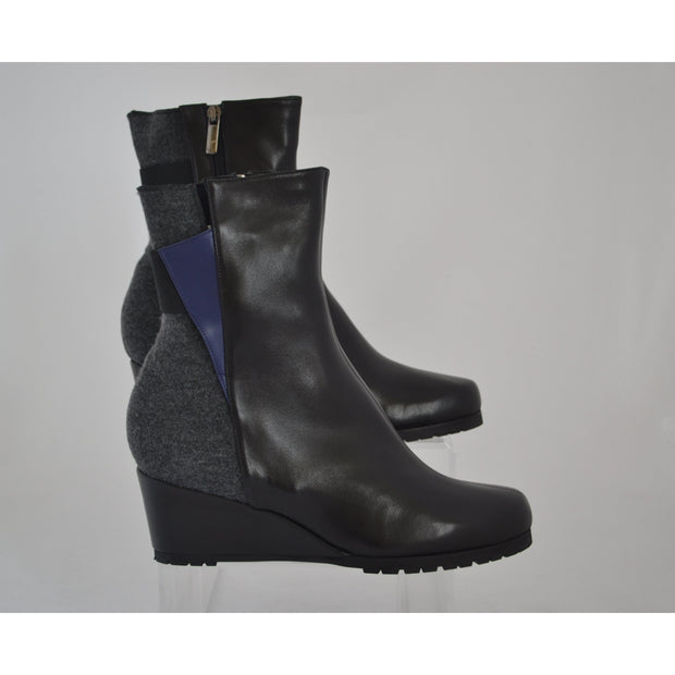 Thierry Rabotin – Black & Grey High Wedge Boot