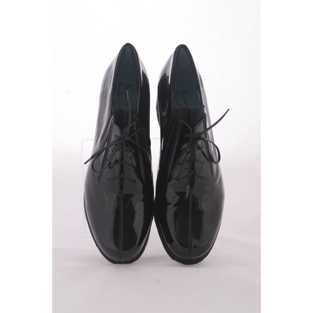 Thierry Rabotin - Dove - Black Patent Lace Up on a  Low Platform