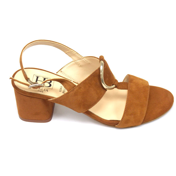 HB - Vanezia Suede T Bar Sandal with Block Heel (2 colours)