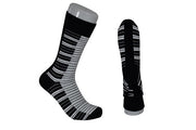 The Tie Studio - Men's Socks - Piano Keys on Black