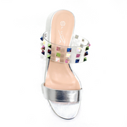Lunar Shoes - Gilly Perspex Stud Sandal