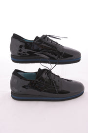Thierry Rabotin - Grecia - Black Patent Lace Up With a Low Wedge
