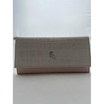 Ashwood Two Tone Croc Effect Leather Purse