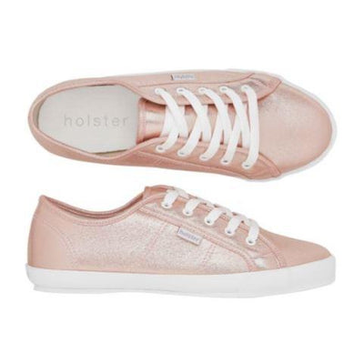 Holster Shoes - Explore Flat Canvas Pump in Rose Gold