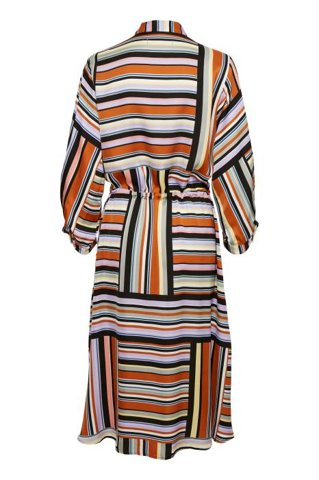 InWear - Hara Floaty Dress in Blocking Stripe Design