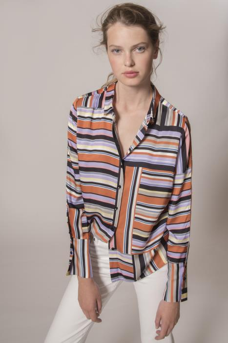 InWear - Hara Floaty Shirt in Blocking Stripe Design