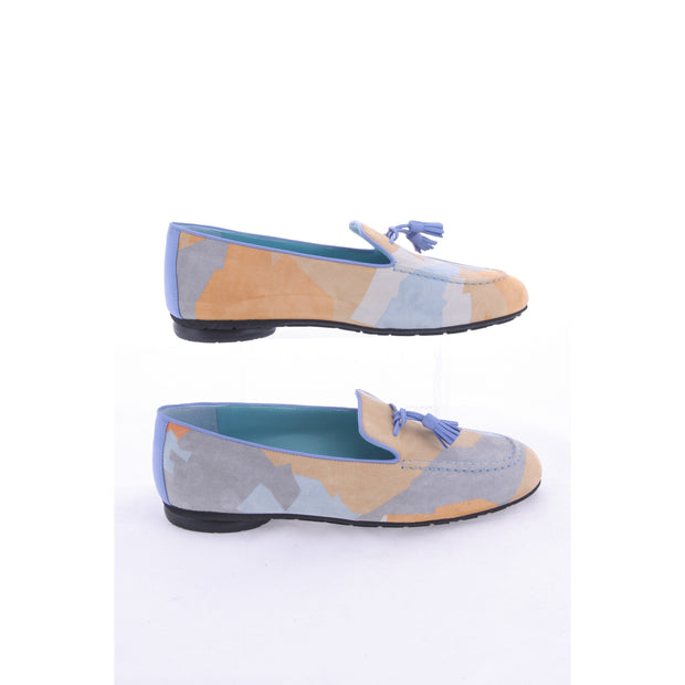 Thierry Rabotin - Graz -  Suede Loafer in Geometric Print Design
