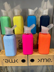 SquireMe Glass Handmade Water Bottles with Silicone Sleeve