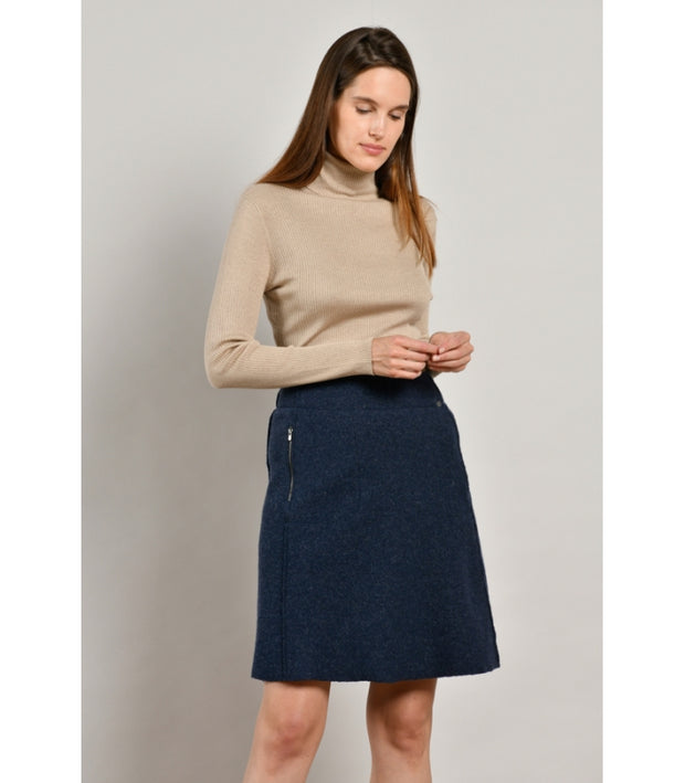 Mat De Misaine - Jaley Boiled wool A-line skirt