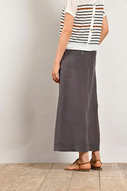 Mat De Misaine - Jivers Long Button Through Linen Skirt