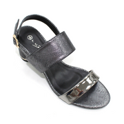 Lunar Shoes - Keeley Snake Print Heel Sandal