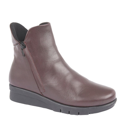 CIPRIATA - 'CARA' Dark Burgundy Leather Ankle Boot