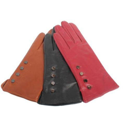 Ashwood Leather - Ladies Leather Gloves with Button Detail - 2 colours