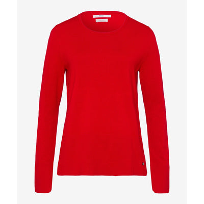 Brax - Lisa Red Fine Knit Jumper