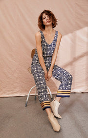 "Part Two - Milles Long Relaxed Fit Trouser in ""Tile Print"""