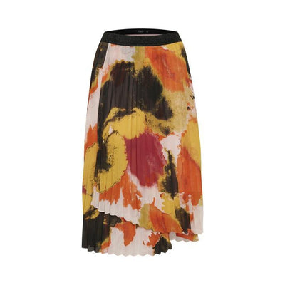 Soaked In Luxury - Millia Pleated Skirt In Bright Watercolour Print