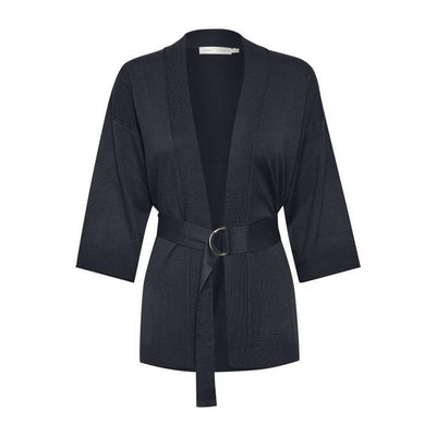 InWear - Mira Long Belted Cardigan with 3/4 Sleeves