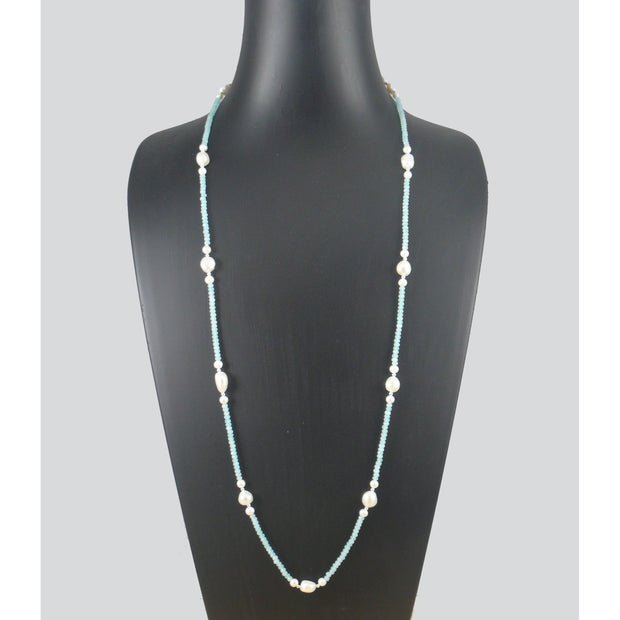 The Real Pearl Co. - Aqua Jade Long Necklace