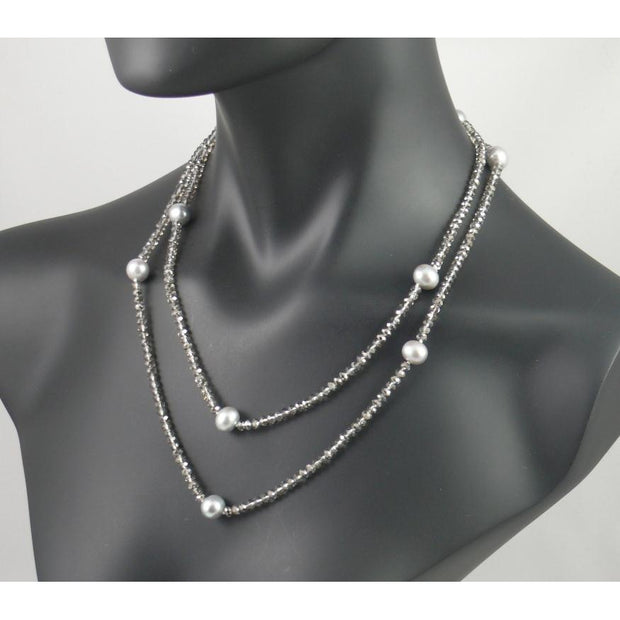 The Real Pearl Co. - Smokey Quartz Long Necklace