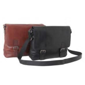 Ashwood Leather Large Leather Laptop/Man Bag in Black