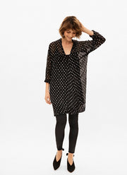 Part Two - Melva Wrap Over Dress / Tunic with White Spots