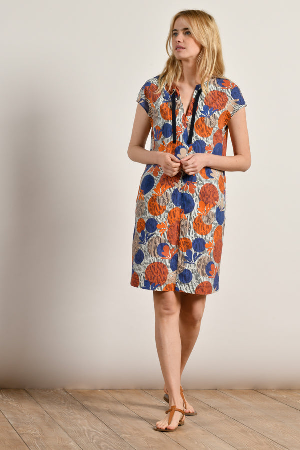 Mat De Misaine - Rivela Graphic Print Organic Cotton Sleeveless Dress