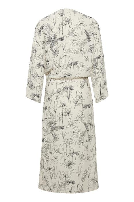 InWear - Reanne 1/2 Sleeve Dress in Cream and Black Sketch Flowers Print