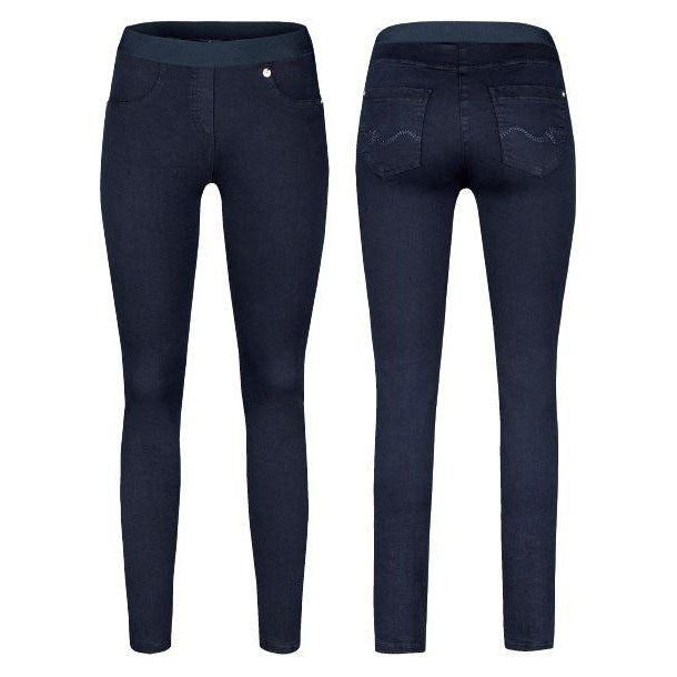 Robell – Rose Slim Leg Jeans with Elasticated Waistband (2 Colours)