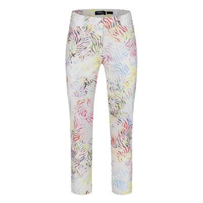 Robell – Rose 09 - Cropped Trousers in a Colourful Animal Print