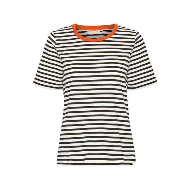 InWear - Rubi Short Sleeve Round Neck Organic Cotton Tee Shirts
