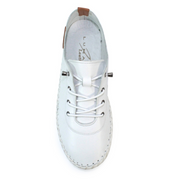 Lunar Shoes - St Ives Leather Plimsoll in White