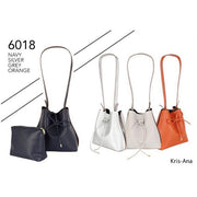 Kris-Ana Medium Size Shoulder Bag with Draw Tie Closure and Inner Pouch (various colours)