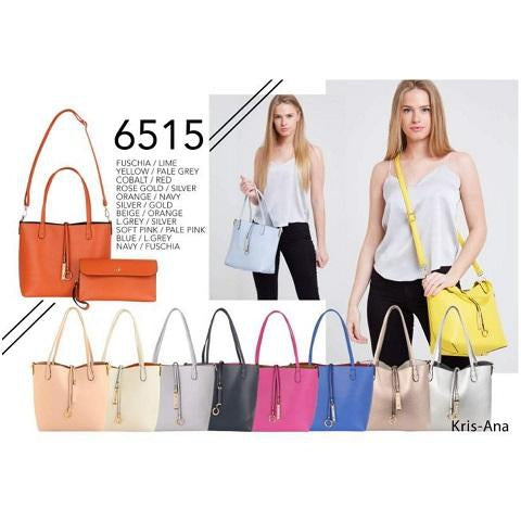 Kris-Ana Medium Size Reversible Tote Bag with inner wrist strap pouch (various colours)
