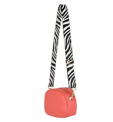 Kris-Ana Detachable Coloured Straps - Black and White Zebra Print