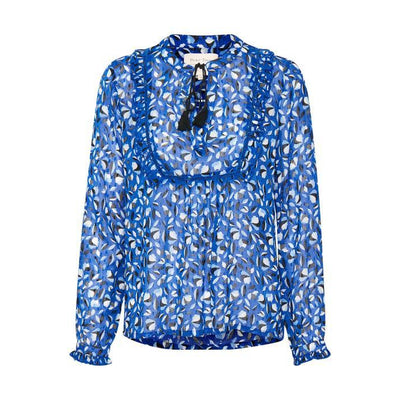 Part Two - Palermo Long Sleeve Blouson Tunic Blouse with Tie Neckline