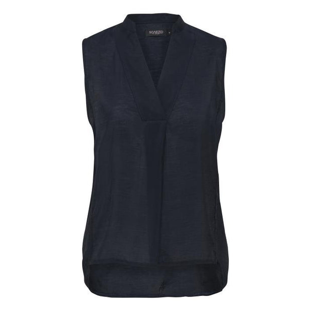 Soaked In Luxury - Valora Sleeveless V Neck Blouse