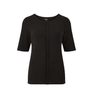 Emreco - Kelleth Smooth Jersey Short Sleeve Top with Reverse Seam Detail