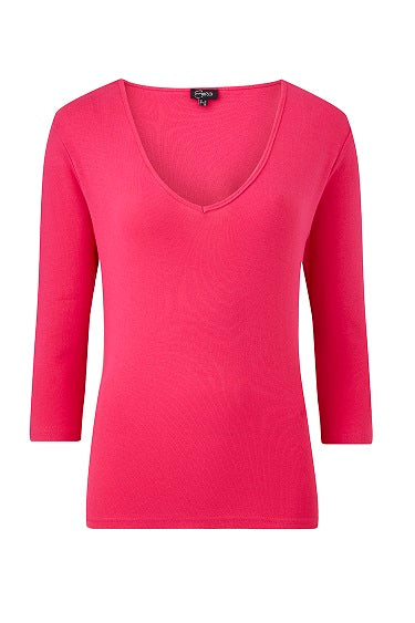Emreco - Lilly Cotton V neck 3/4 sleeved T shirt