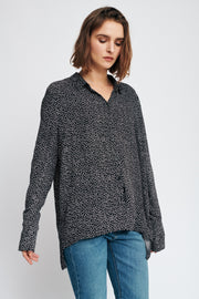 InWear - Harlow Floaty Shirt in Black Minimal Dot Design