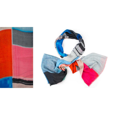 Kapre - Merino Wool & Silk Scarf in Bold Block Colours- KAP316-23