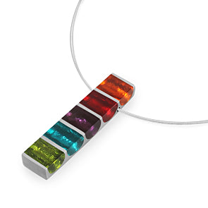 Watch This Space - Pewter Stripes Shiny Pendant (3 colours)