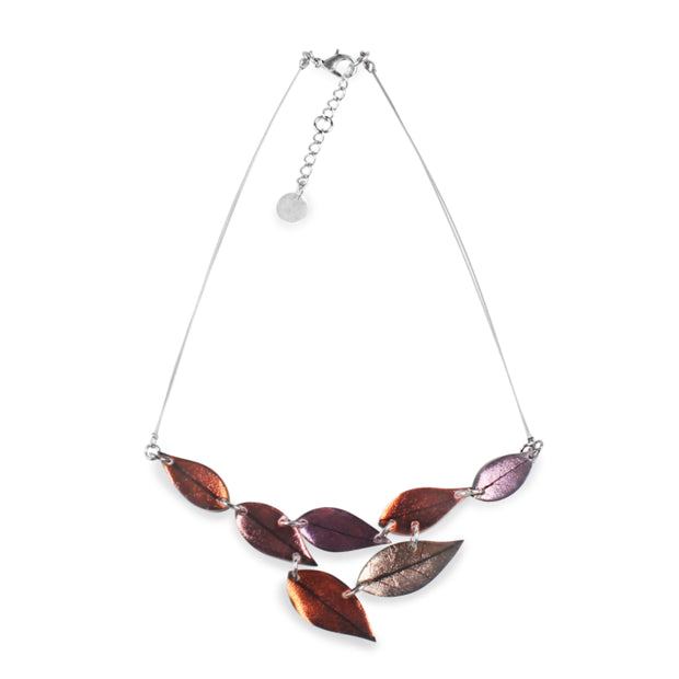 Watch This Space - Skeletal Leaf Shiny Necklace (2 colours)
